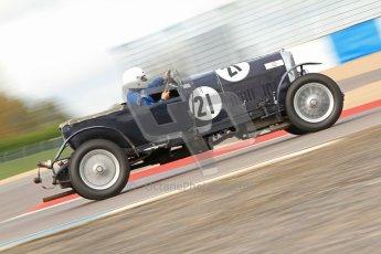 "© Octane Photographic Ltd. 2012 Donington Historic Festival. ""Mad Jack"" for pre-war sportscars, qualifying. Bentley 3 Litre - Jock MacKinnon. Digital Ref : 0314cb7d9626"