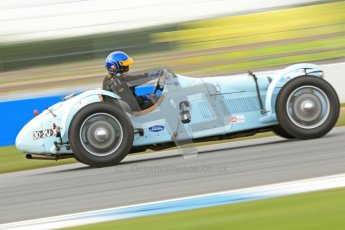 "© Octane Photographic Ltd. 2012 Donington Historic Festival. ""Mad Jack"" for pre-war sportscars, qualifying. Talbot Lago T150 - Sam Stretton/John Guyatt. Digital Ref : 0314cb7d9686"