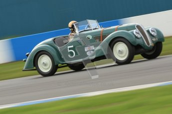 "© Octane Photographic Ltd. 2012 Donington Historic Festival. ""Mad Jack"" for pre-war sportscars, qualifying. BMW 328 Sports - David Cottingham/Simon Diffey. Digital Ref : 0314cb7d9696"