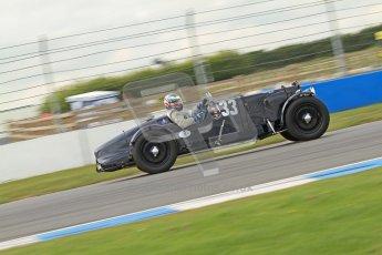 "© Octane Photographic Ltd. 2012 Donington Historic Festival. ""Mad Jack"" for pre-war sportscars, qualifying. Mark Midgley - Aston Martin Ulster. Digital Ref : 0314cb7d9717"