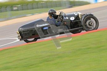 "© Octane Photographic Ltd. 2012 Donington Historic Festival. ""Mad Jack"" for pre-war sportscars, qualifying. Morgan Super Aero - Sue Darbyshire/Gary Caroline. Digital Ref : 0314cb7d9728"