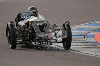 "© Octane Photographic Ltd. 2012 Donington Historic Festival. ""Mad Jack"" for pre-war sportscars, qualifying. Morgan Super Aero - Sue Darbyshire/Gary Caroline. Digital Ref : 0314lw7d7075"