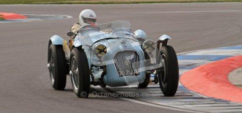 "© Octane Photographic Ltd. 2012 Donington Historic Festival. ""Mad Jack"" for pre-war sportscars, qualifying. Talbot Lago T150 - Sam Stretton/John Guyatt. Digital Ref : 0314lw7d7176"