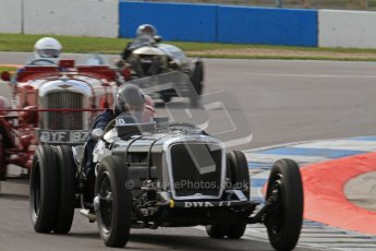 "© Octane Photographic Ltd. 2012 Donington Historic Festival. ""Mad Jack"" for pre-war sportscars, qualifying. 5th May 2012, Jaguar SS100 - Tom McWhirter. Digital Ref : 0314lw7d7201"