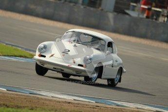 © Octane Photographic Ltd. 2012 Donington Historic Festival. Pre-63 GT, qualifying. Porsche 356 Carrera 2 GT - Carlo Vogele. Digital Ref : 0322cb1d9270