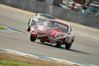 © Octane Photographic Ltd. 2012 Donington Historic Festival. Pre-63 GT, qualifying. Jaguar E-type - Chris Phillips. Digital Ref : 0322cb1d9278