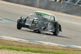 © Octane Photographic Ltd. 2012 Donington Historic Festival. Pre-63 GT, qualifying. Morgan+4 Supersports - Gabriel Kramer, Dion Kramer. Digital Ref : 0322cb1d9374
