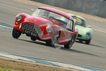 © Octane Photographic Ltd. 2012 Donington Historic Festival. Pre-63 GT, qualifying. AC Ace Bristol - Cussons. Digital Ref : 0322cb1d9379