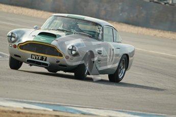 © Octane Photographic Ltd. 2012 Donington Historic Festival. Pre-63 GT, qualifying. Aston Martin DB4 - Nick Naismith. Digital Ref : 0322cb1d9438