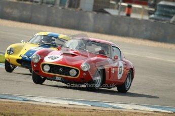 © Octane Photographic Ltd. 2012 Donington Historic Festival. Pre-63 GT, qualifying. Ferrari 250SWB - Clive Joy, Kilian Konig and Lotus Elite - Barry Davison, Patrick Sherrington.  Digital Ref : 0322cb1d9508