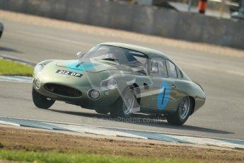 © Octane Photographic Ltd. 2012 Donington Historic Festival. Pre-63 GT, qualifying. Aston Marton DP212 - Wolfgang Friedrichs, David Clark. Digital Ref : 0322cb1d9512