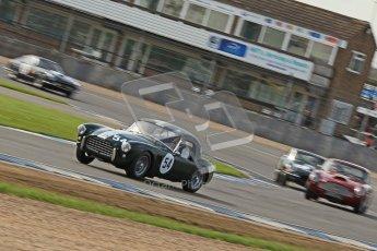 © Octane Photographic Ltd. 2012 Donington Historic Festival. Pre-63 GT, qualifying. AC Ace - Mark Knopfler, Alain de Cadenet. Digital Ref : 0322cb7d0373