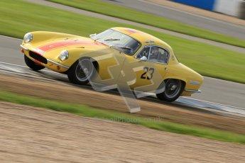 © Octane Photographic Ltd. 2012 Donington Historic Festival. Pre-63 GT, qualifying. Lotus Elite - Peter Stohrmann, Wolfgang Molitor. Digital Ref : 0322cb7d0379