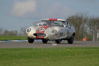 © Octane Photographic Ltd. 2012 Donington Historic Festival. Pre-63 GT, qualifying. Jaguar E-type - McCaig, Wood. Digital Ref : 0322lw7d0169