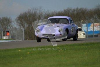 © Octane Photographic Ltd. 2012 Donington Historic Festival. Pre-63 GT, qualifying. Lotus Elite S1 - Michael Gans, Jason Wright. Digital Ref : 0322lw7d0208