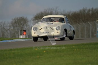 © Octane Photographic Ltd. 2012 Donington Historic Festival. Pre-63 GT, qualifying. Porsche 356 - Michael Burtt, Paul Howells. Digital Ref : 0322lw7d0215