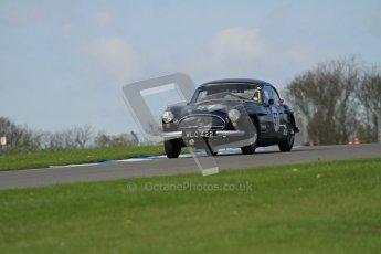 © Octane Photographic Ltd. 2012 Donington Historic Festival. Pre-63 GT, qualifying. Jensen 541R - Malcolm Verey, Denis Welch. Digital Ref : 0322lw7d0294
