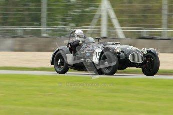 © Octane Photographic Ltd. 2012 Donington Historic Festival. RAC Woodcote Trophy for pre-56 sportscars, qualifying. Allard J2 - Patrick Watts. Digital Ref : 0316cb1d8071