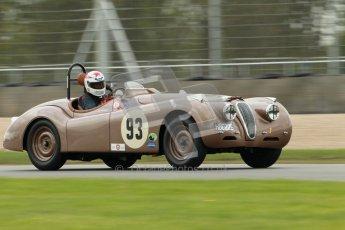 © Octane Photographic Ltd. 2012 Donington Historic Festival. RAC Woodcote Trophy for pre-56 sportscars, qualifying. Jaguar KX120 OTS - Wil Arif/Jarrah Venables. Digital Ref : 0316cb1d8088
