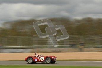 © Octane Photographic Ltd. 2012 Donington Historic Festival. RAC Woodcote Trophy for pre-56 sportscars, qualifying. Maserati A6 GCS - Lukas Huni. Digital Ref : 0316cb7d0013