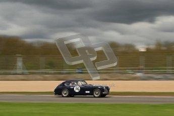 © Octane Photographic Ltd. 2012 Donington Historic Festival. RAC Woodcote Trophy for pre-56 sportscars, qualifying. Aston Martin DB2/4 Mk.I - Nigel Batchelor. Digital Ref : 0316cb7d0018