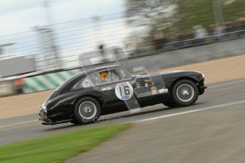 © Octane Photographic Ltd. 2012 Donington Historic Festival. RAC Woodcote Trophy for pre-56 sportscars, qualifying. Aston Martin DB2 - Chris Jolly. Digital Ref : 0316cb7d9948