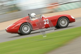© Octane Photographic Ltd. 2012 Donington Historic Festival. RAC Woodcote Trophy for pre-56 sportscars, qualifying. Maserati 300S - Conrad Ulrich/Willie Green. Digital Ref : 0316cb7d9961