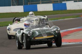 © Octane Photographic Ltd. 2012 Donington Historic Festival. RAC Woodcote Trophy for pre-56 sportscars, qualifying. Aston Martin DB3S - Wolfgang Friedrichs/David Clark. Digital Ref : 0316lw7d8218