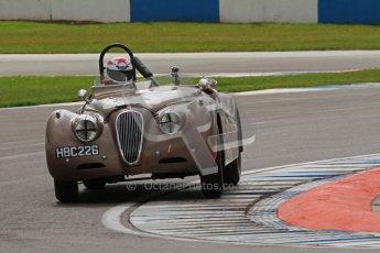 © Octane Photographic Ltd. 2012 Donington Historic Festival. RAC Woodcote Trophy for pre-56 sportscars, qualifying. Jaguar KX120 OTS - Wil Arif/Jarrah Venables. Digital Ref : 0316lw7d8412