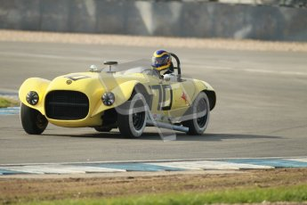 © Octane Photographic Ltd. 2012 Donington Historic Festival. Stirling Moss Trophy for pre-61 sportscars, qualifying. Old Yeller Mk.II - Ernest Nagamatsu. Digital Ref : 0321cb1d8953