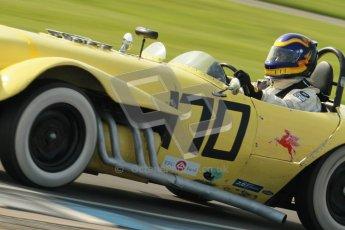 © Octane Photographic Ltd. 2012 Donington Historic Festival. Stirling Moss Trophy for pre-61 sportscars, qualifying. Old Yeller Mk.II - Ernest Nagamatsu. Digital Ref : 0321cb1d9060