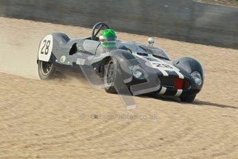 © Octane Photographic Ltd. 2012 Donington Historic Festival. Stirling Moss Trophy for pre-61 sportscars, qualifying. Cooper Monaco - Martin Stretton. Digital Ref : 0321cb1d9087