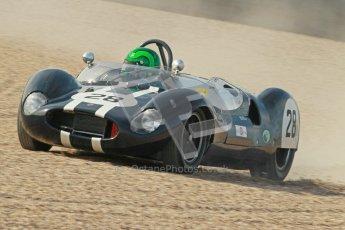 © Octane Photographic Ltd. 2012 Donington Historic Festival. Stirling Moss Trophy for pre-61 sportscars, qualifying. Cooper Monaco - Martin Stretton. Digital Ref : 0321cb1d9097