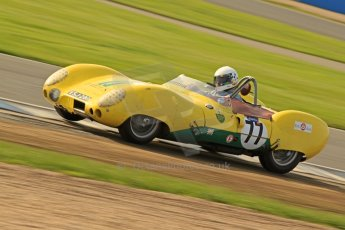 © Octane Photographic Ltd. 2012 Donington Historic Festival. Stirling Moss Trophy for pre-61 sportscars, qualifying. Lotus XI Le Mans - David Cooke. Digital Ref : 0321cb7d0328