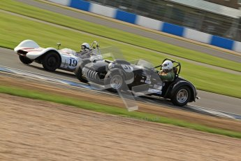 © Octane Photographic Ltd. 2012 Donington Historic Festival. Stirling Moss Trophy for pre-61 sportscars, qualifying. Kurtis 500S - Adam Singer. Digital Ref : 0321cb7d0342