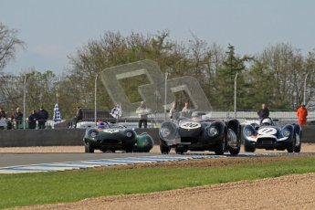 © Octane Photographic Ltd. 2012 Donington Historic Festival. Stirling Moss Trophy for pre-61 sportscars, qualifying. Lister Knobbly - Alastair Dovey, Mark Hales. Digital Ref : 0321lw7d0118