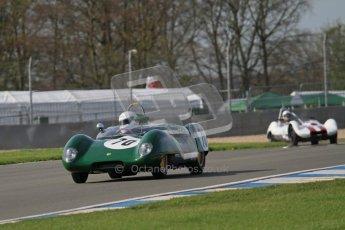 © Octane Photographic Ltd. 2012 Donington Historic Festival. Stirling Moss Trophy for pre-61 sportscars, qualifying. Lotus 17 Prototype - Gabriel Kremer/Dion Kremer. Digital Ref : 0321lw7d9731