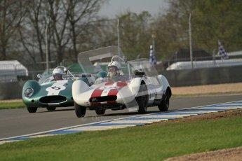 © Octane Photographic Ltd. 2012 Donington Historic Festival. Stirling Moss Trophy for pre-61 sportscars, qualifying. Elva Mk.V. Ralf Emmerling/Phil Hooper. Digital Ref : 0321lw7d9738