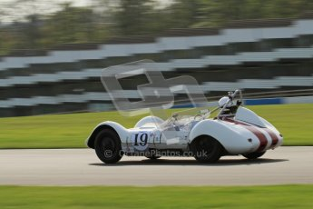 © Octane Photographic Ltd. 2012 Donington Historic Festival. Stirling Moss Trophy for pre-61 sportscars, qualifying. Elva Mk.V. Ralf Emmerling/Phil Hooper. Digital Ref : 0321lw7d9809