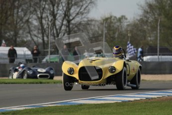 © Octane Photographic Ltd. 2012 Donington Historic Festival. Stirling Moss Trophy for pre-61 sportscars, qualifying. Old Yeller Mk.II - Ernest Nagamatsu. Digital Ref : 0321lw7d9994