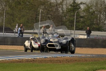 © Octane Photographic Ltd. 2012 Donington Historic Festival. Stirling Moss Trophy for pre-61 sportscars, qualifying. Lister Knobbly - Tony Wood, Barry Cannell. Digital Ref : 0321lw7d9998