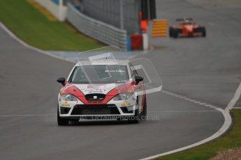 © Octane Photographic Ltd. Donington Park - General Test - 19th April 2012. Luke Caudle, Seat Leon, Production Touring Car Trophy. Digital ref : 0297lw1d8624