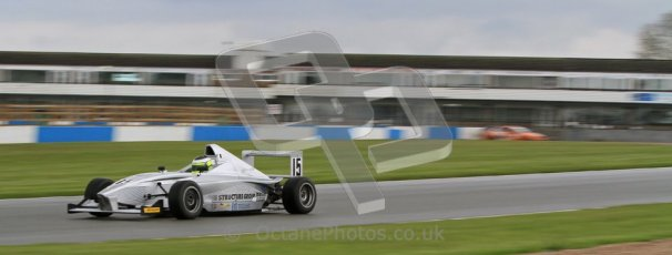 © Octane Photographic Ltd. Donington Park - General Test - 19th April 2012. James Fletcher, Mygale FB02, MGR, BARC Intersteps championship. Digital ref : 0297lw7d5801