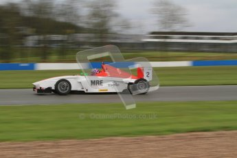 © Octane Photographic Ltd. Donington Park - General Test - 19th April 2012. Cameron Twynham, Mygale FB02, Fortec, BARC Intersteps championship. Digital ref : 0297lw7d5865