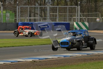 © Octane Photographic Ltd. Donington Park un-silenced general test day, 26th April 2012. Paul Lewis and Will Scully - Caterham 7. Digital Ref : 0301lw7d8267