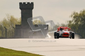 © Octane Photographic Ltd. Donington Park un-silenced general test day, 26th April 2012. Will Scully - Caterham 7. Digital Ref : 0301cb1d2732