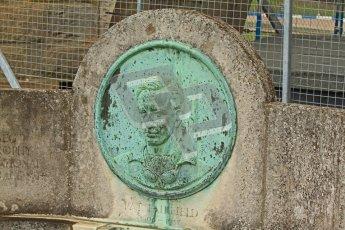 © Octane Photographic Ltd. Donington Park un-silenced general test day, 26th April 2012. Pat Fairfield memorial fountain. Digital Ref : 0301cb7d8342