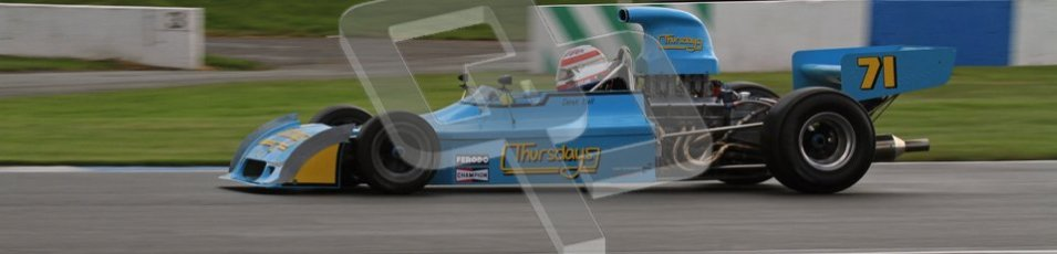 © Octane Photographic Ltd. Donington Park un-silenced general test day, 26th April 2012. Simon Taylor, Ex-Derek Bell Chevron B24 F5000. Digital Ref : 0301lw7d7585