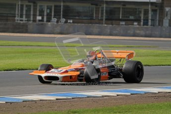 © Octane Photographic Ltd. Donington Park un-silenced general test day, 26th April 2012. Cengiz Artam, March 701, Historic F1. Digital Ref : 0301lw7d8316