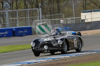 © Octane Photographic Ltd. Donington Park un-silenced general test day, 26th April 2012. Aston Martin DB3. Digital Ref : 0301lw7d8334